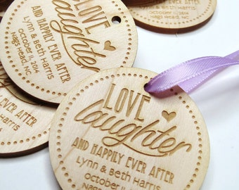 50 - 2 x 2 Custom Wood Tags - Custom Engraved Tags - Wood Gift Tags
