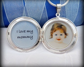 I love my Mommy - Personalized Photo Locket Necklace
