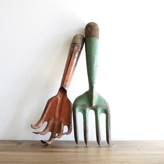 Pair of rustic garden hand tools for Common garden hand tools