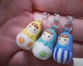 Matryoshka Russian Doll Necklace.