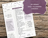 The Ultimate Daily Planning Worksheet - A printable planner page to help you organize your schedule, meals, to-do list, and the entire day!
