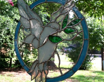 Stained Glass Window Suncatcher Dove of Peace - Made to Order