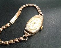 ladies 9ct gold vintage, manual wind watch