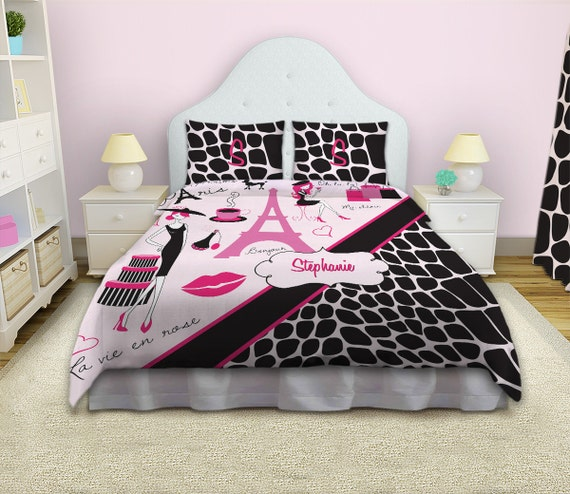 paris duvet cover paris themed bedding fashion bedding