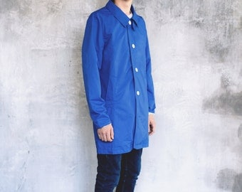 Mens Waterproof  RainCoat in Ocean Blue by Sunday Morning