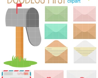 You Got Mail! Digital Clip Art for Scrapbooking Card Making Cupcake Toppers Paper Crafts