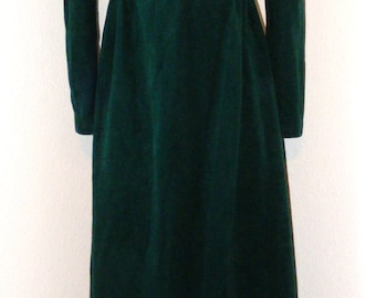 Vintage 1970s Emeral Green Long Dress