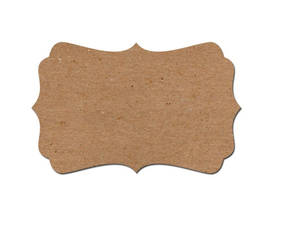 60 Blank Labels Blank self-adhesive labels fancy bracket