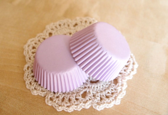 Mini Lavender Light Purple Solid Color Cupcake by ChicChicFindings