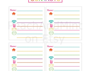 cute printable address book juve cenitdelacabrera co