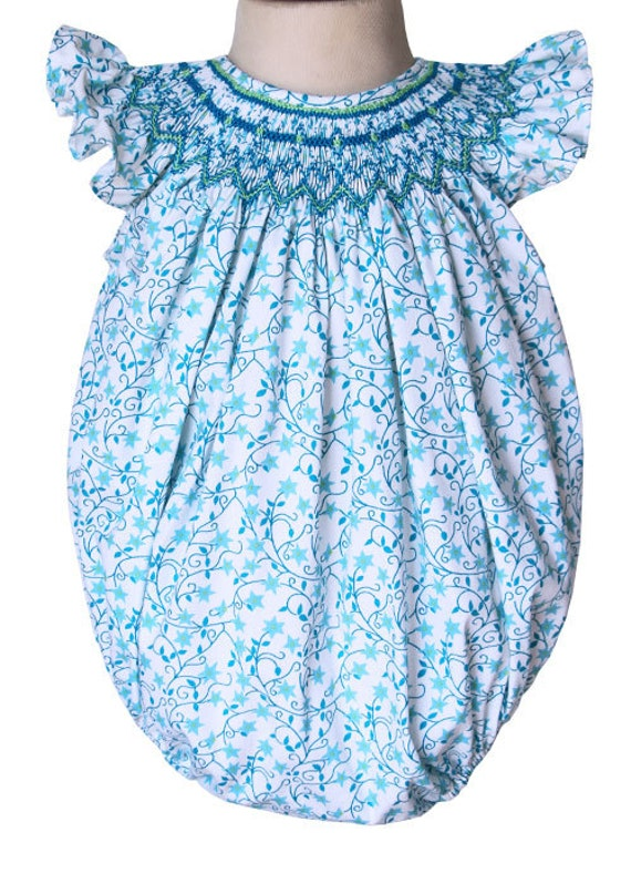 Baby girls beach smocked bubble perfect for your baby girl