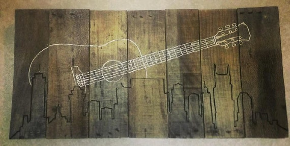 nashville skyline with guitar wall art on by With kitchen cabinets lowes with nashville skyline wall art