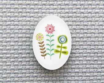 Magnetic Flowers Needle Minder for Cross Stitch, Embroidery, & Needlecrafts (18mmx25mm with Strong Magnet)