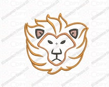 Lion Head Mane 2 Layer Applique Embroidery Design in 3x3 4x4 and 5x5 Sizes