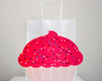 Cupcake Party Favor Goody Gift Bags