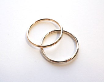 Hers and Hers Matching 14k Gold Wedding Bands