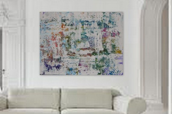XL huge enormous custom order Large original modern abstract painting by Marcy Chapman camvas wall art canvas painting