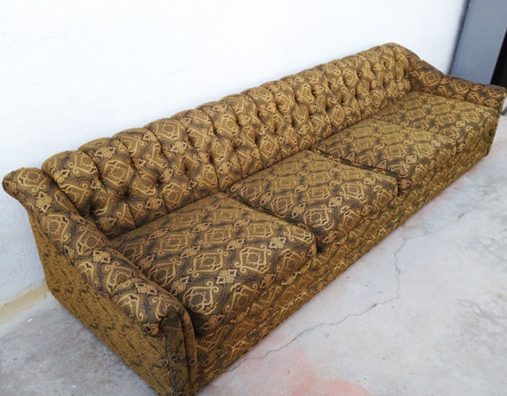 Grammer Seat Vintage : Ft mid century modern sofa hollywood regency chesterfield