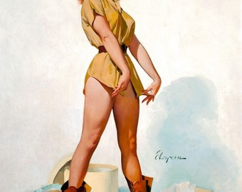 1950's Vintage Pin-Up Girl Poster 25