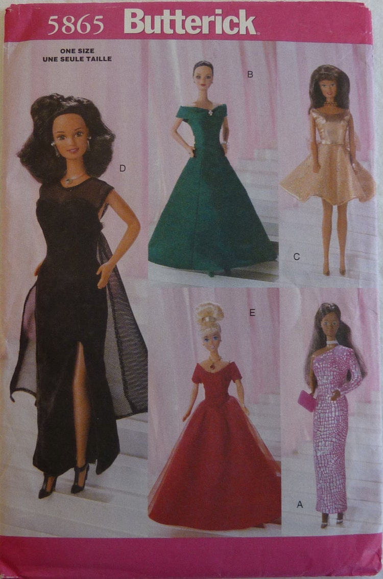 Sewing Pattern Butterick 5865 11 1 2 Inch By Fullbloomsupplies