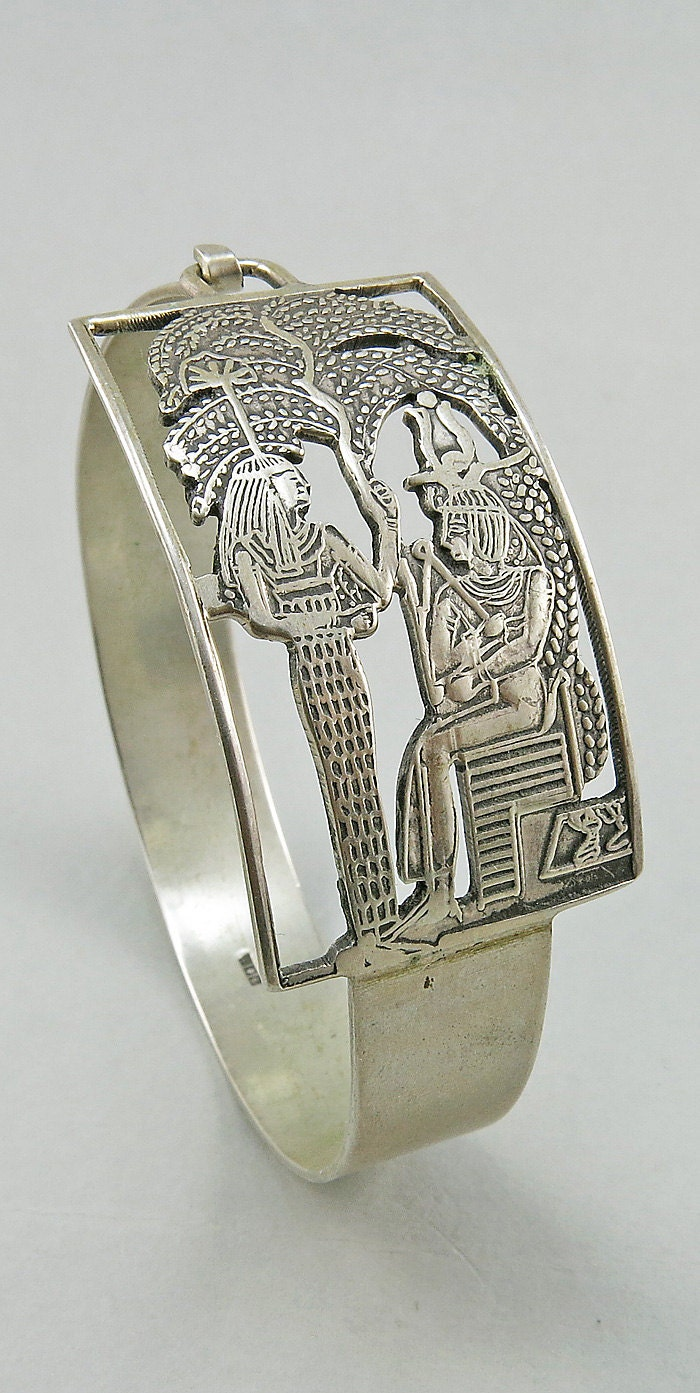 deco silver bangle revival jewelry 1930s jewelry