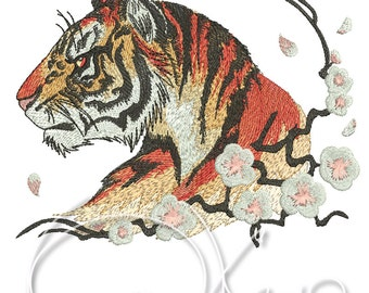 MACHINE EMBROIDERY FILE - Tiger