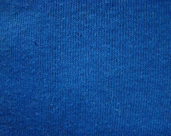 Vintage Royal Blue Ribbed Knit Fabric by the 1/3 yard  - 12 inches x 44 inches