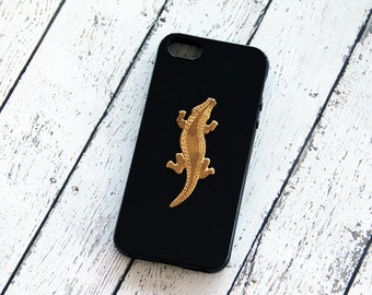 Alligator iPhone Case Animal iPhone 4Case Black iPhone 5 5s Gold Crocodile Samsung Galaxy S3 Case Galaxy S5 S4 iPhone 6 Case Plastic Hard