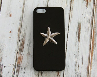 Black iPhone 5c Case Starfish iPhone 5 Case iPhone 4s Animal Unique iPhone Cases Cute iPhone 6 Case iPhone 6 Plus