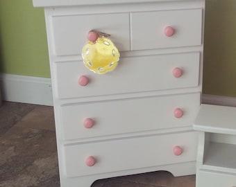 Doll Dresser Wooden Toy Furniture American Reborn Baby Photography Prop Childrens Montessori Amish Waldorf 012
