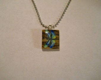 Scrabble Tile Necklace, Dragonfly Necklace, Dragonfly Scrabble Necklace, Dragonfly Necklace, Scrabble, Handmade, Gift, Necklace with Chain