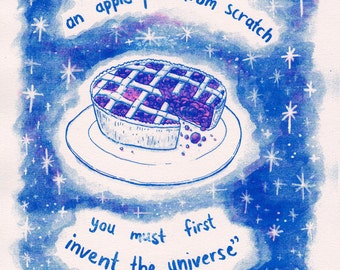 Apple Pie of the Universe Risograph Print