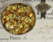 7x5mm Light Topaz Gold Brown Octagon Swarovski Rhinestones - Article 4600/176 Austrian First Quality Crystal - 6pcs