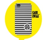 Monogram iPhone 5s case iPhone 5c case  iPhone 5, iPhone 4s, iPhone 4 blue white striped personalized tough rubber case samsung galaxy case