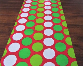 Simply Table Runners RED TABLE RUNNER 12 x 48 Red Table Runners Decorative Holidays Green Polka Dot Table Runner Holiday Home 48 60 72 84 96
