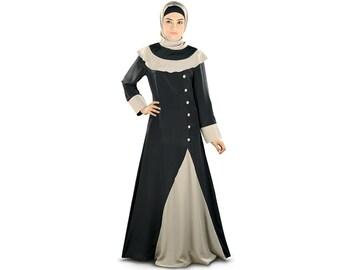 MyBatua Elegant Duai Fancy Abaya, Jilbab, Burqa, Islamic Clothing, Long Maxi Dress, Muslim Dress Crepe Fabric AY323