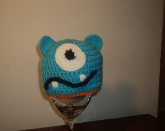 Bright Blue One Eyed Monster Hat