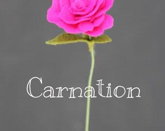Felt Carnation. Build Your Own Bouquet