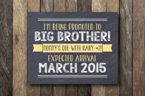 Big Brother Announcement Sign Pregnancy Announcement – Big Brother Birth Announcements