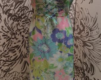 SALE~ Vintage 1960s floral hippie maxi dress boho