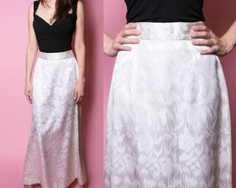 1970's Janet Sloane Inc. Greenwich Metallic Brocade Maxi Skirt