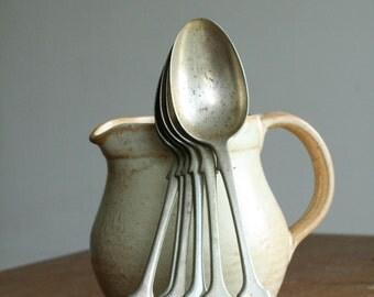 Vintage Desert Spoons Set 1800's - Henry Millington Harwood & Son