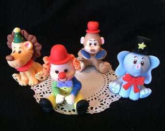 Circus Cake Topper, Circus Animals Circus Party Decoarations, Circus Birthday Cake, Circus Decorations, Circus Party, Circus Baby Shower