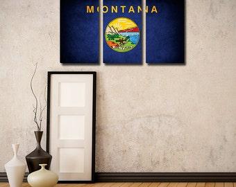 Montana Flag Triptych (w/ Free Shipping!)