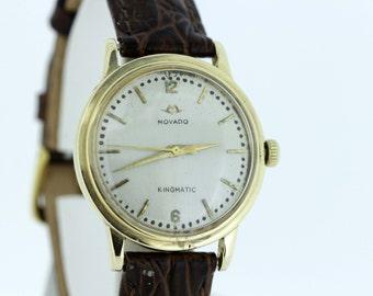 14K Gold Movado Kingmatic Wrist Watch