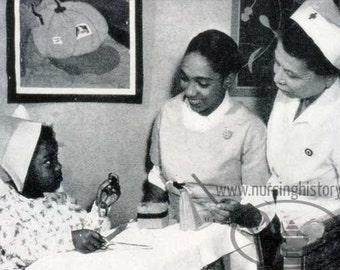 Museum of Nursing History: Vintage Black Child Patient and Nurse Hospital  Image #92