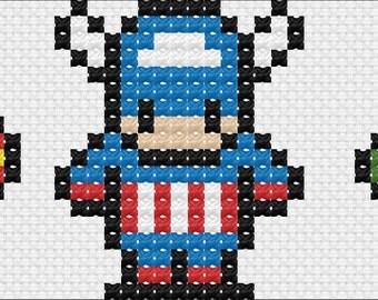 The Mini Avengers Cross Stitch Chart