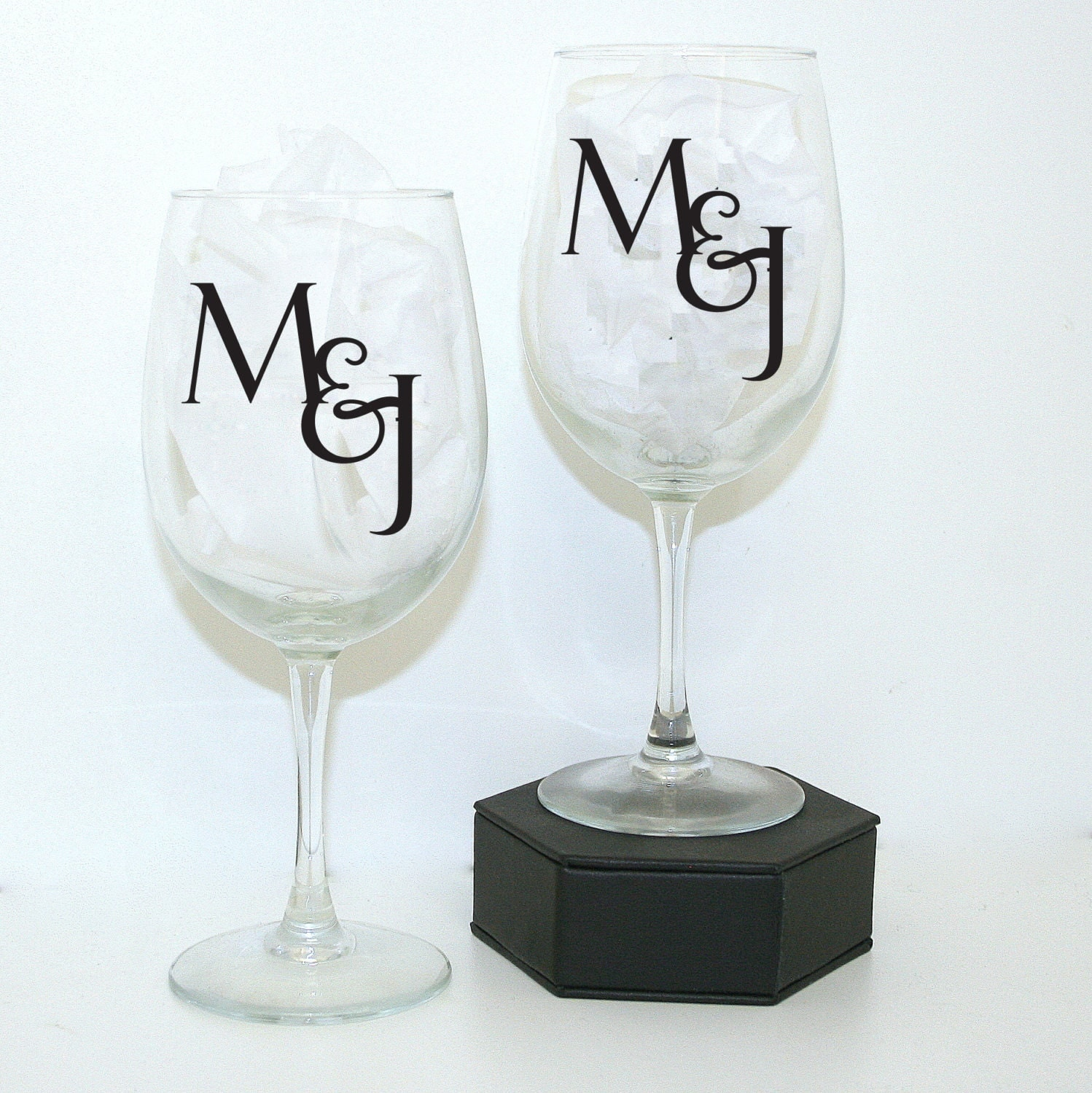 Initial Glass Set Custom Wine Glasses Personalized Wine By