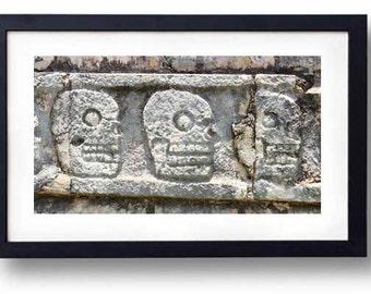Mayan Skulls: Chichen Itza  was one of the greatest Mayan cities of the Yucatán peninsula.