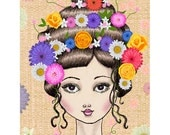 I Adorn you Spring - Flowers - Hair - Gerbra - Daisy - Chrysanthemum - Ranunculus - Pretty - Floral - Spring - Art